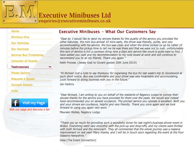 An image of Guestbook, Testimonials and Customer Comments goes here.